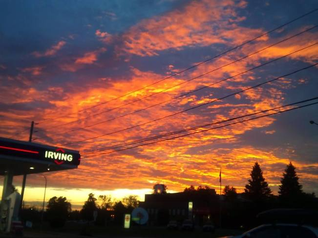 Fire in the Sky Fredericton, New Brunswick Canada