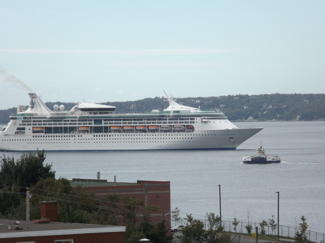 Beautiful day for cruise ships in Halifax Harbour Dartmouth, Nova Scotia Canada