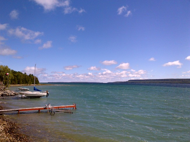 Rough Waters on Colpoys Bay Wiarton, Ontario Canada