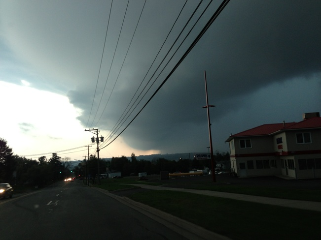 Storm brewing Fredericton, New Brunswick Canada