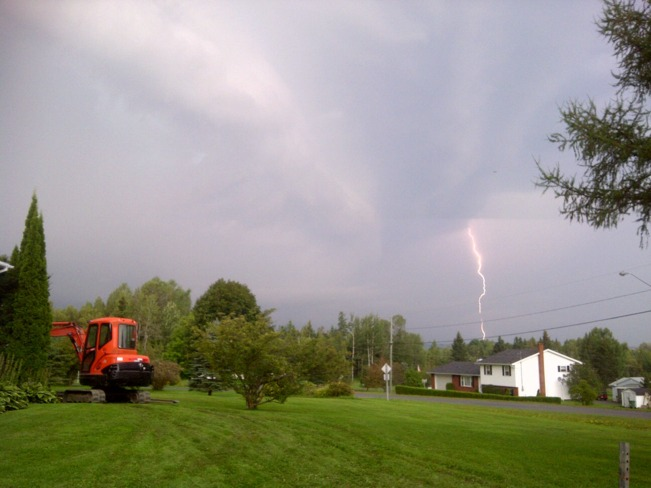 Storm Over Fredericton Area Lincoln, New Brunswick Canada
