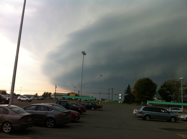 storm approaching Woodstock, New Brunswick Canada