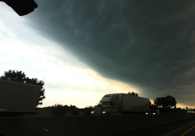 Bad storm near Ingersoll Ingersoll, Ontario Canada