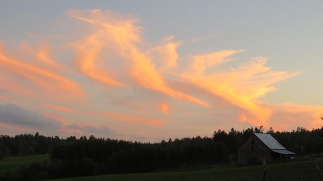 early evening sky Rutherglen, Ontario Canada