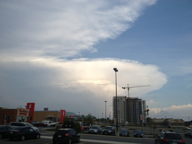 Overshooting Top of Supercell London, Ontario Canada