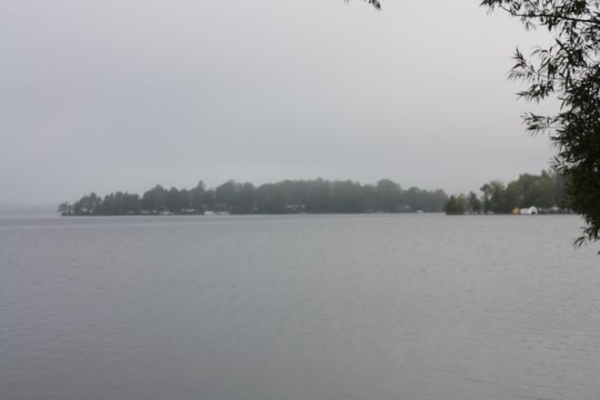 Cameron Lake at 8:45 a.m.
