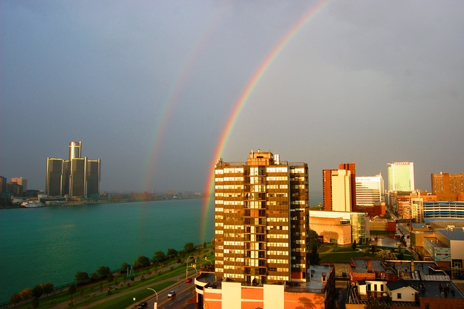 Rainbow after the storm Windsor, Ontario Canada
