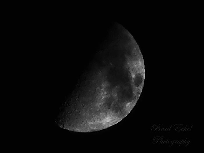 Half moon on the eve of Friday the 13th in Port Dover Vaughan, Ontario Canada