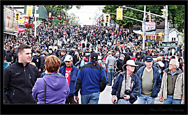 Packed in at Friday the 13th in Port Dover Vaughan, Ontario Canada