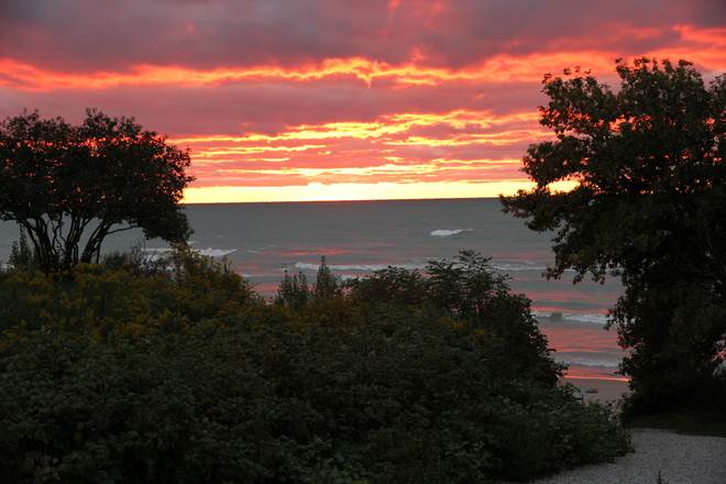 Beautiful Sunset Over Lake Huron Grand Bend, Ontario Canada