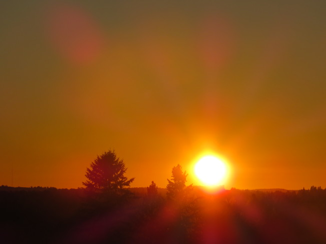 Lovely red sunset Timmins, Ontario Canada