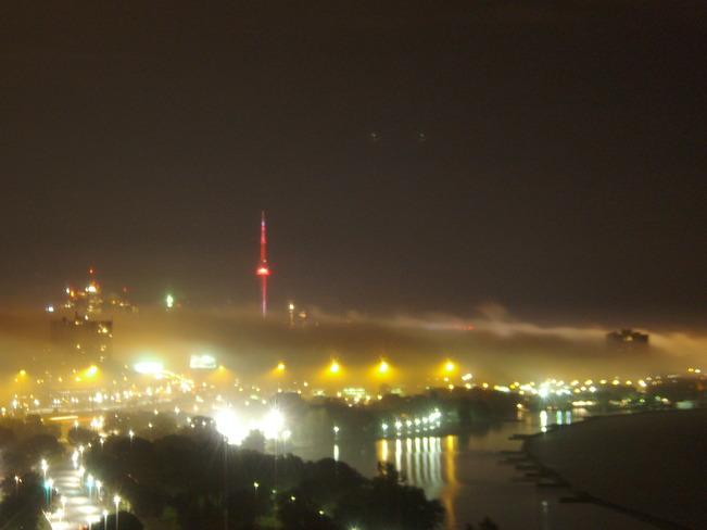 City on fire Toronto, Ontario Canada