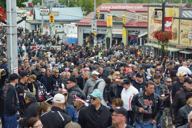 Port Dover's Human Traffic Jam Port Dover, Ontario Canada