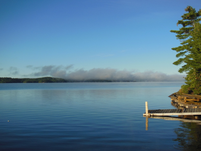 Morning Mist over Lake Panache Greater Sudbury, Ontario Canada