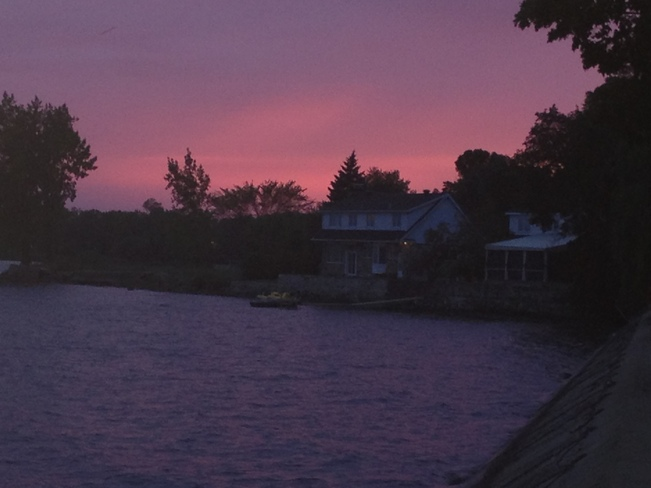 Sunset Over Pointe Claire Village Pointe-Claire, Quebec Canada
