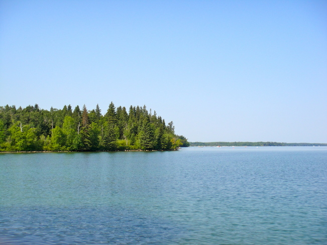 Clear view of Clear Lake Wasagaming, Manitoba Canada