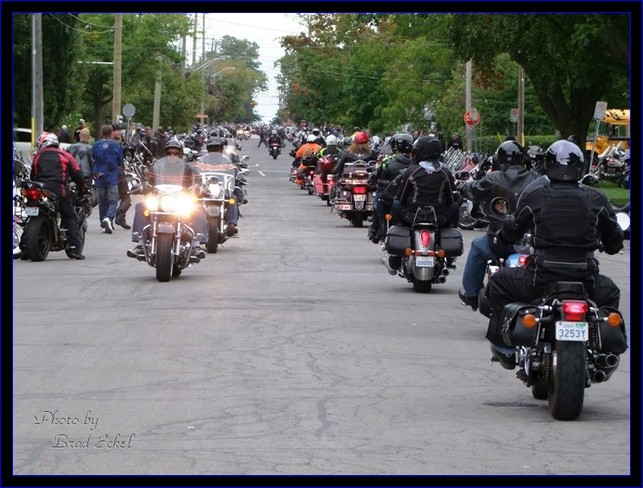 Heading into Port Dover for Friday the 13th Vaughan, Ontario Canada