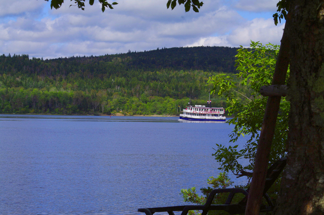 River boat on the Kennebecasis River Saint John, New Brunswick Canada