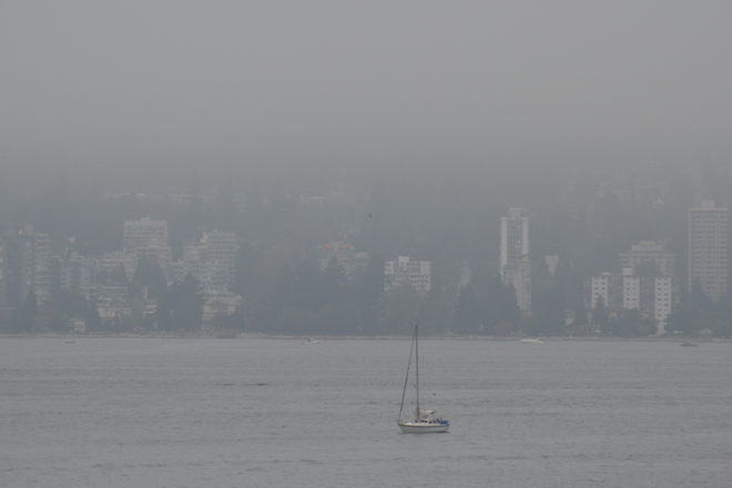 Foggy Day Vancouver, British Columbia Canada