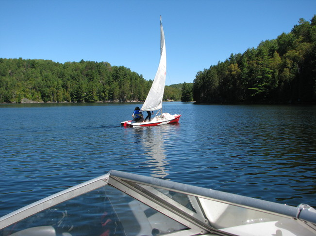 Good weather for sailing Wilberforce, Ontario Canada