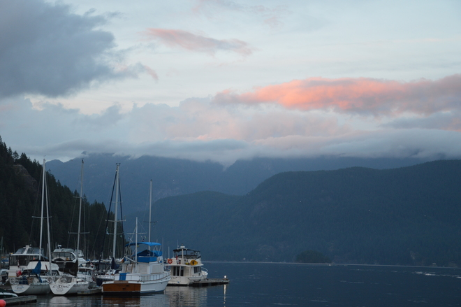Clouds At Sunset North Vancouver, British Columbia Canada