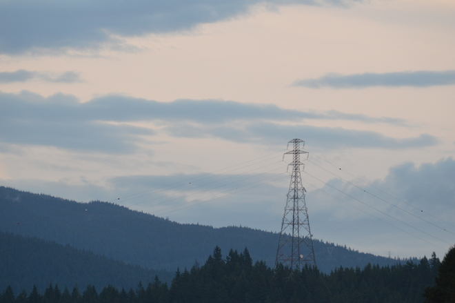 Power Tower At Sunset North Vancouver, British Columbia Canada