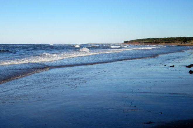 Plage bleu Brackley, Prince Edward Island Canada