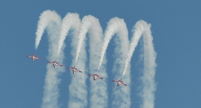 Snowbirds in Action at IPM 2013 in Mitchell Stratford, Ontario Canada