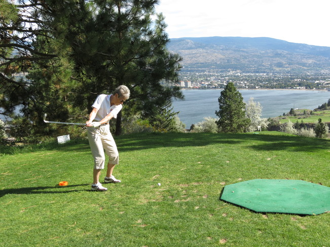 The perfect day for golf Penticton, British Columbia Canada