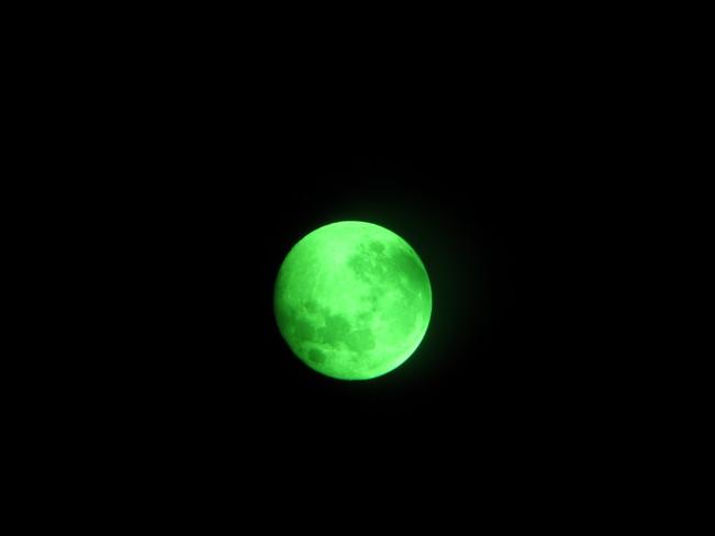 Fall moon shot with a telescope Cambridge, Ontario Canada