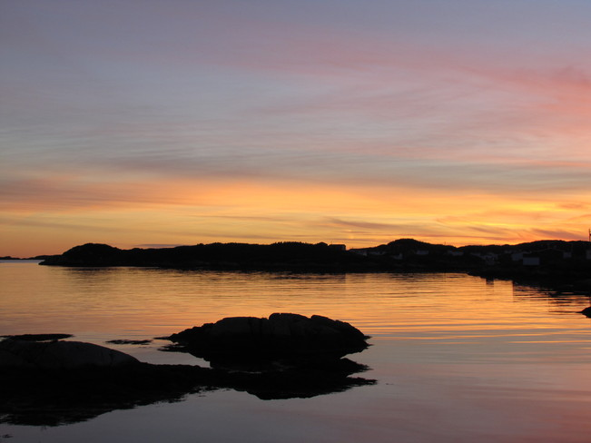 Sunset at Burgeo Nl. Burgeo, Newfoundland and Labrador Canada