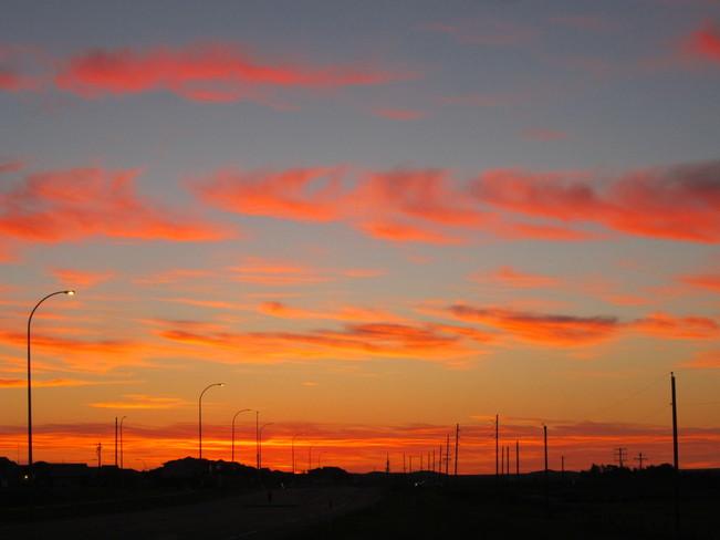Last sunrise of Summer 2013 Medicine Hat, Alberta Canada