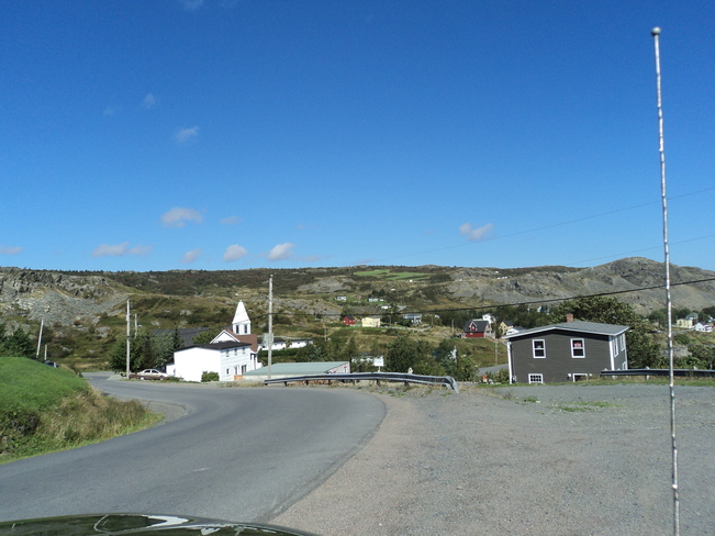 Freshwater South under a beautiful blue sky Carbonear, Newfoundland and Labrador Canada