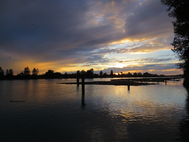Sunset On The Fraser Burnaby, British Columbia Canada