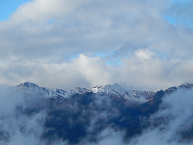 Morning Snow in the Dogtooth Range Golden, British Columbia Canada