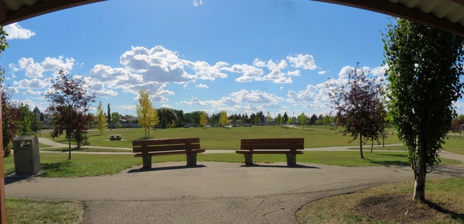 looking South on a beautiful day Edmonton, Alberta Canada