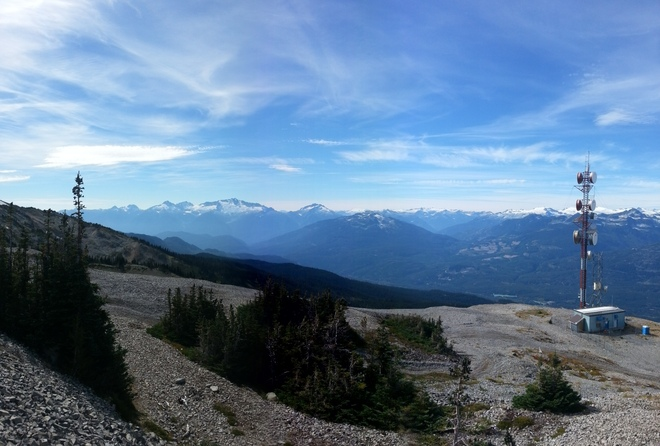 View from Black Tusk. Whistler, British Columbia Canada