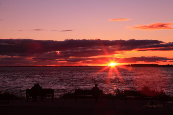 sunset Lachine, Quebec Canada