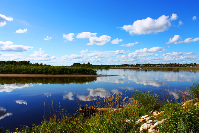 Reflection of the clouds The Pas, Manitoba Canada