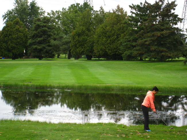 golfing in a cool afternoon Markham, Ontario Canada