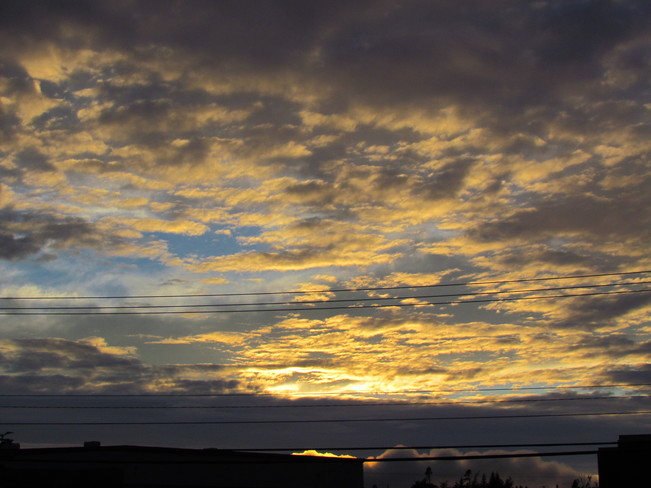 A woderful fall sunset Mount Pearl, Newfoundland and Labrador Canada