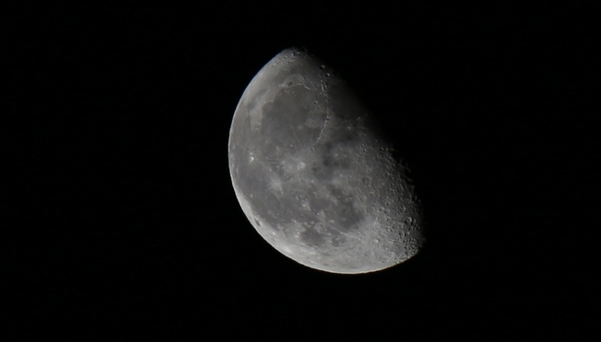 Waning moon - 67% full. Prince George, British Columbia Canada