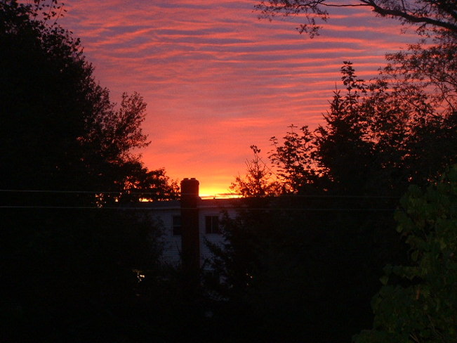 Sun rising Dartmouth, Nova Scotia Canada