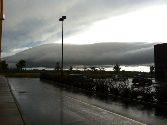 Storm Cloud Rolling In Ottawa, Ontario Canada
