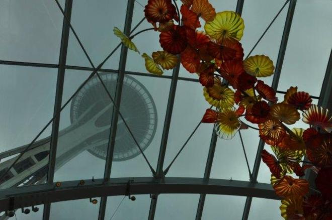 Seattle Space Needle from Chihuly Erin, Ontario Canada