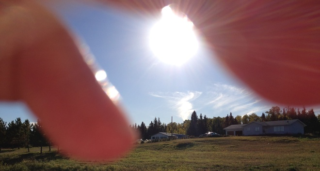 If only we could touch the rays Prince Albert, Saskatchewan Canada