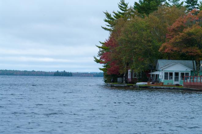 Cloudy day at the lake Fredericton, New Brunswick Canada