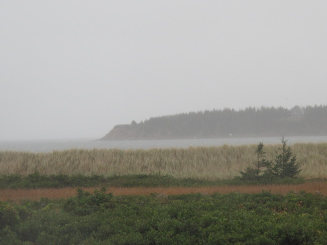 Red Cliffs In The Mist Souris, Prince Edward Island Canada