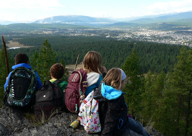 THE VIEW FROM WINDY BLUFF Cranbrook, British Columbia Canada