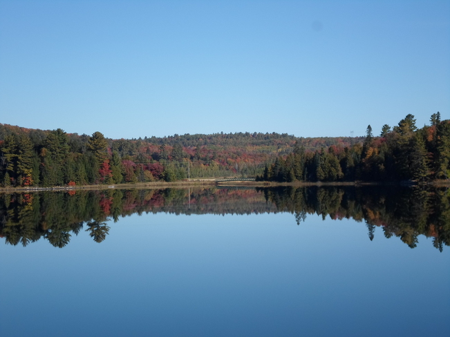 Reflections were stunning today Elliot Lake, Ontario Canada